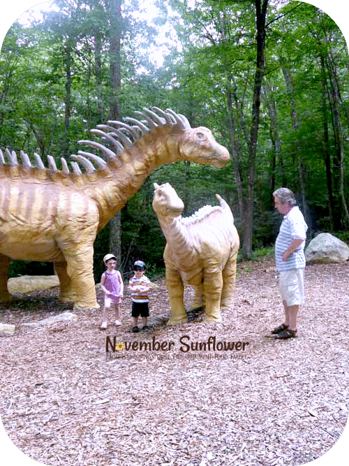 Meeting the dinosaurs at The Dinosaur Place