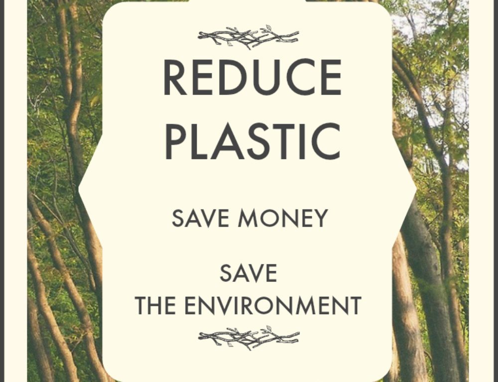 Reduce plastic use to save money and help the environment