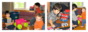 Kids loving Mega Bloks