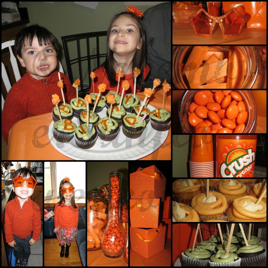 Orange Themed Birthday