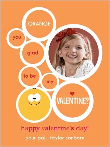 Orange Valentine's Day Card