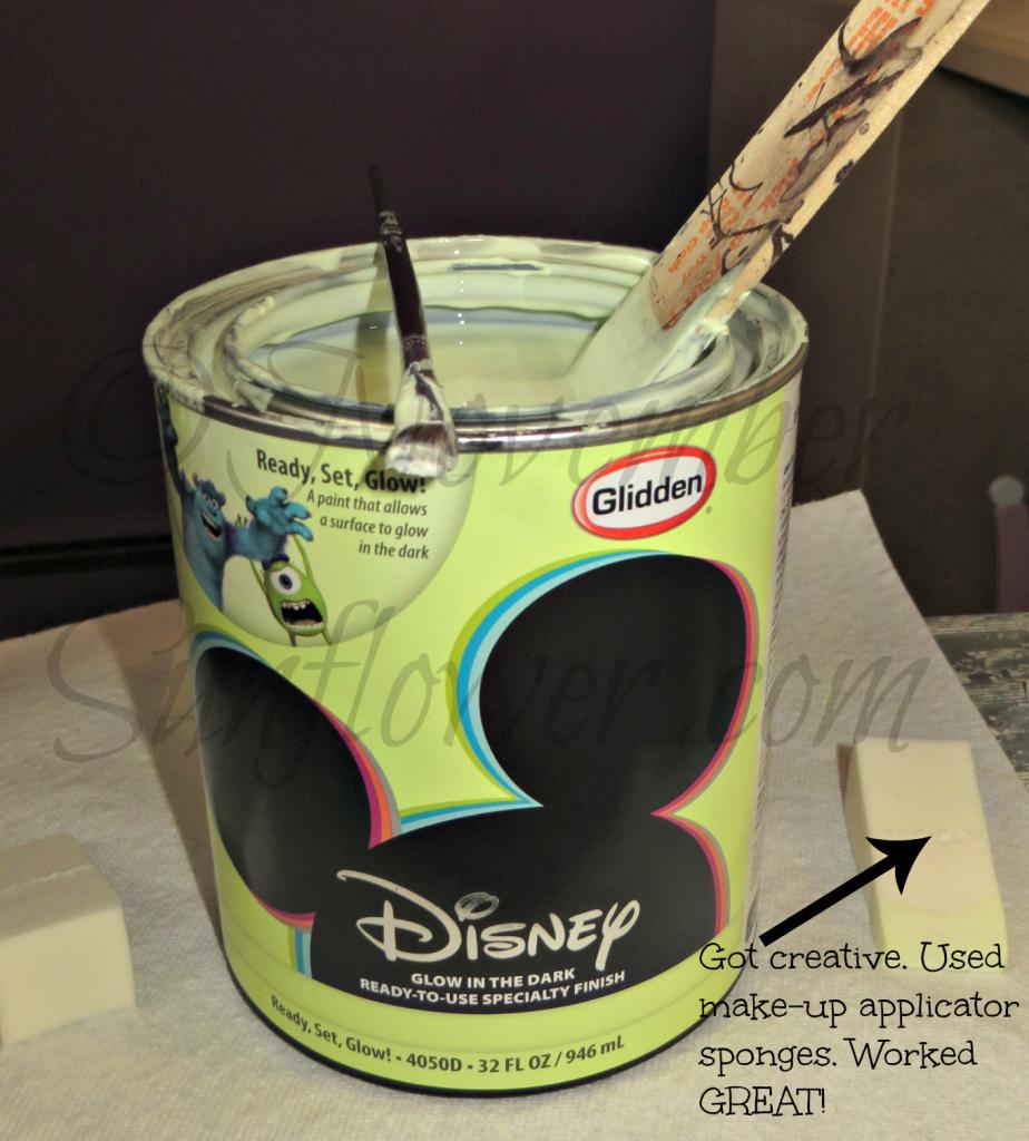 Glidden Sponge Painting Tinker Bell