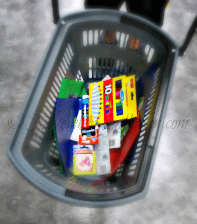 Basket of School Supplies
