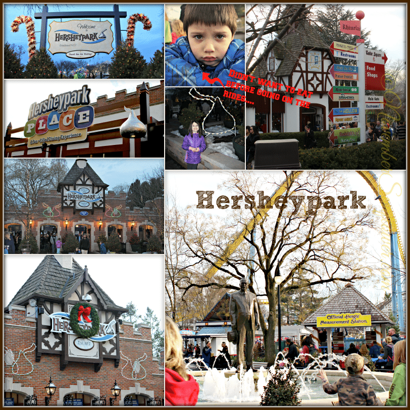 Eating at Hersheypark Christmas Candylane