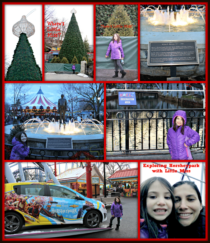 Exploring Hersheypark during Christmas Candylane