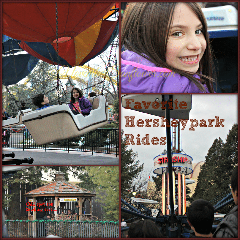Hersheypark rides at Christmas Candylane event in December
