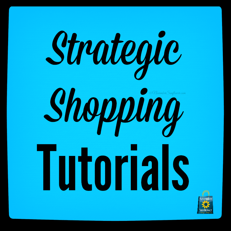 Did you know about my strategic shopping tutorials?