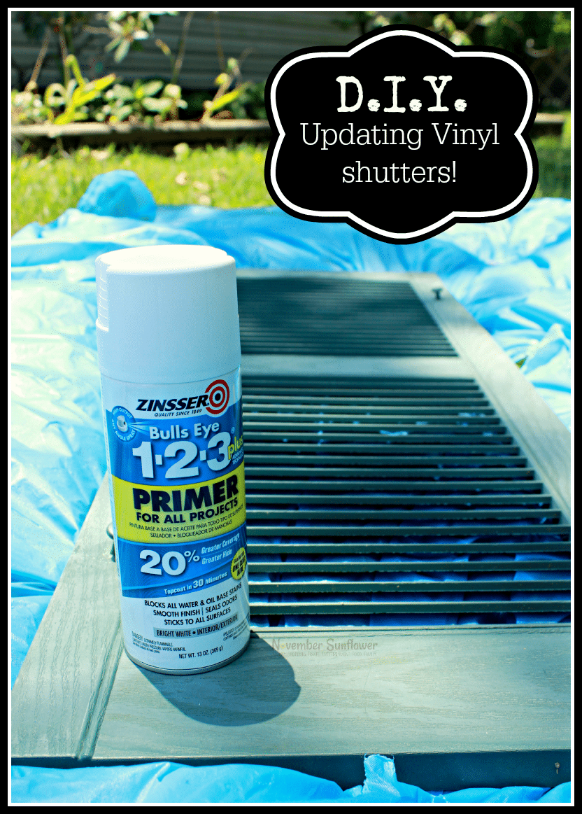 DIY Updating Vinyl Shutters #diyproject