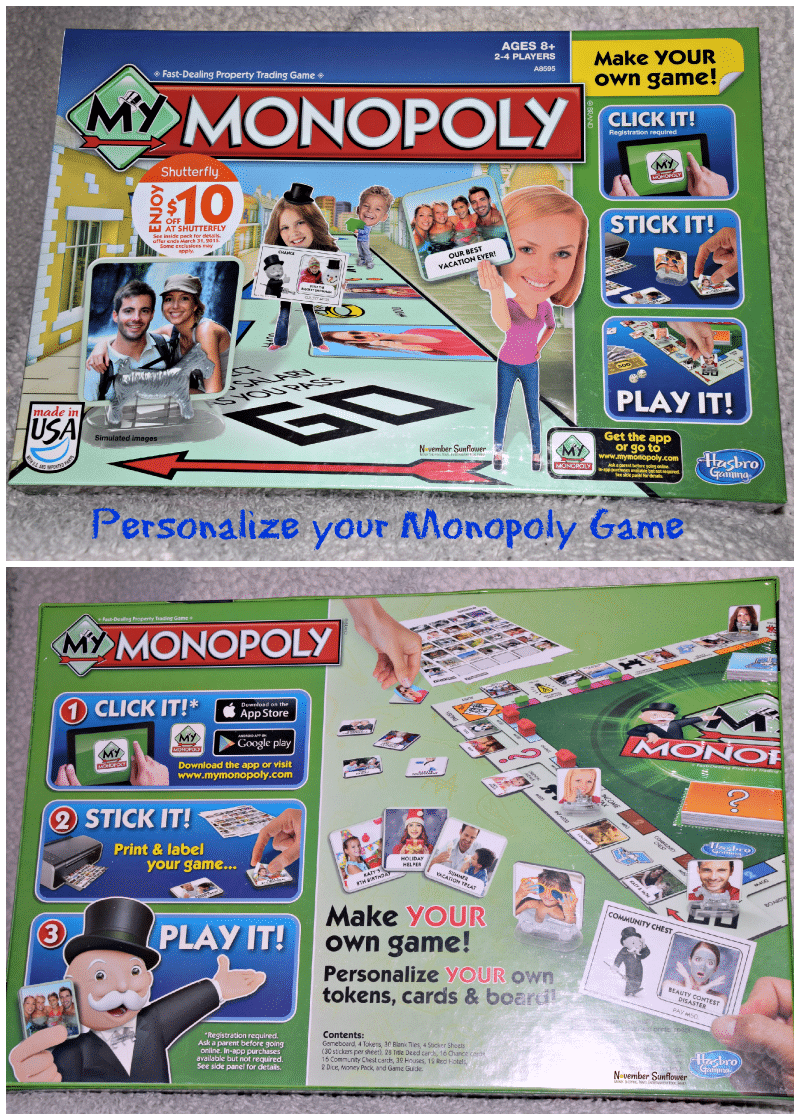 my monopoly click it, stick it and play it #hasbro #sponsored