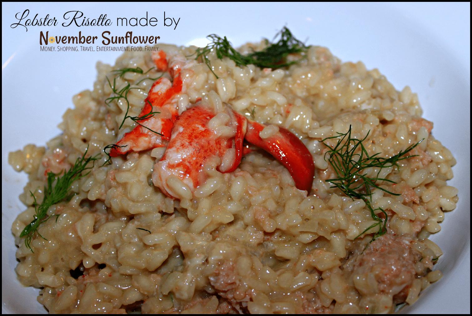 peach dish lobster risotto #peachdish #cookingmadeeasy