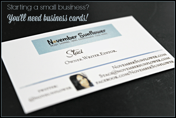 Starting a small business You ll need business cards