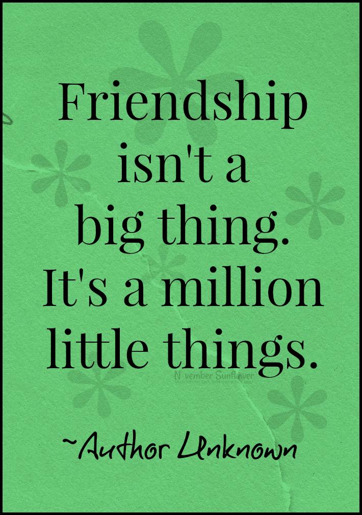 friendship is a million little things #friendship