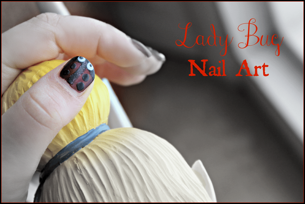 Lady Bug Nail Art #ChosenChixHop #ladybugnailart