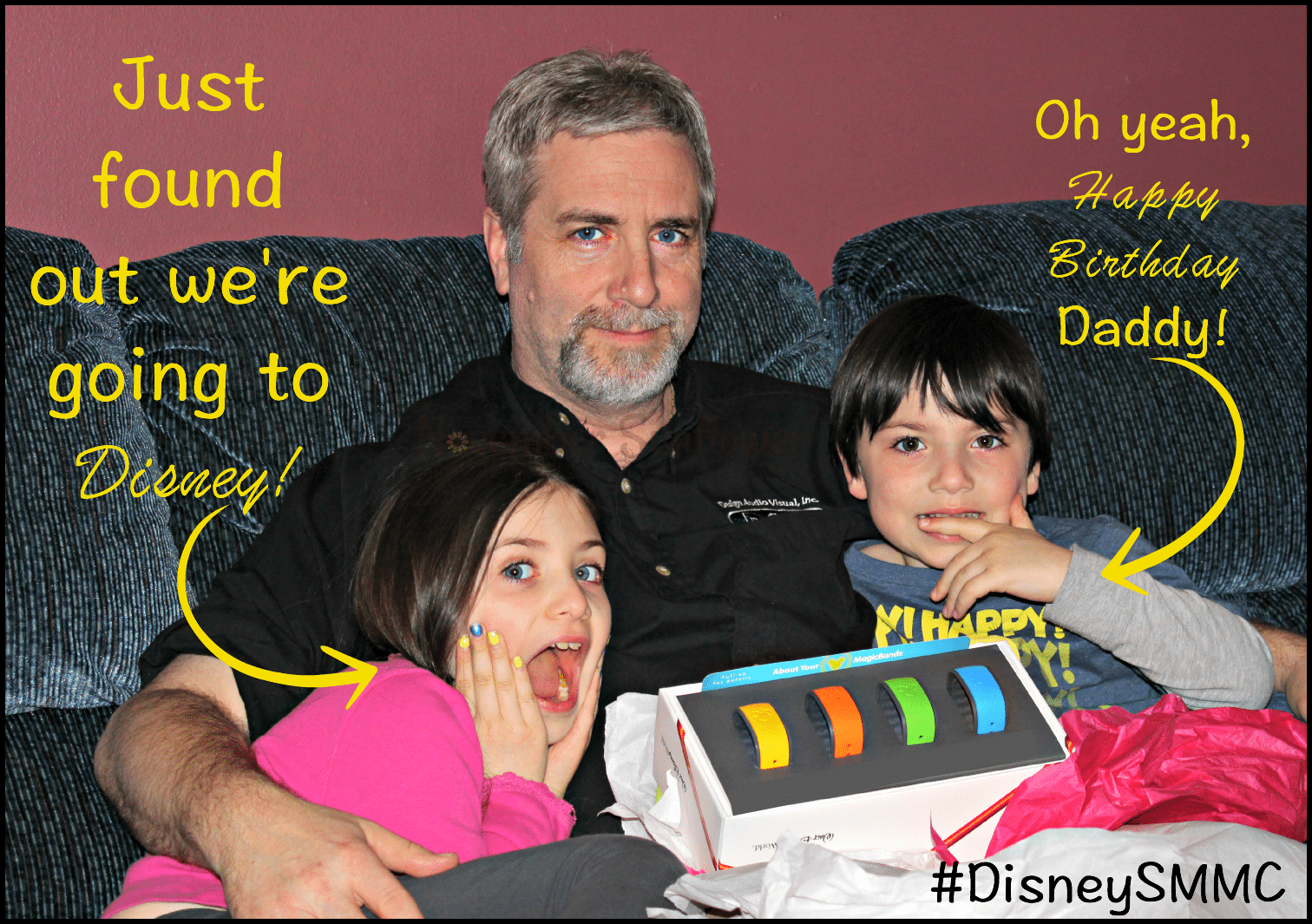 How not to announce to your kids they're going to #DisneySMMC #disneyside #dsmmc #sponsored