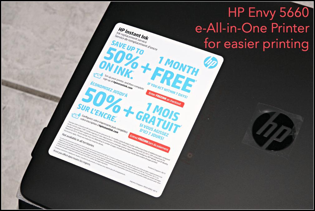 HP Envy 5660 e-All-in-One Printer for easier printing #HPSmartMomPanel #HPEnvy #HP #sponsored