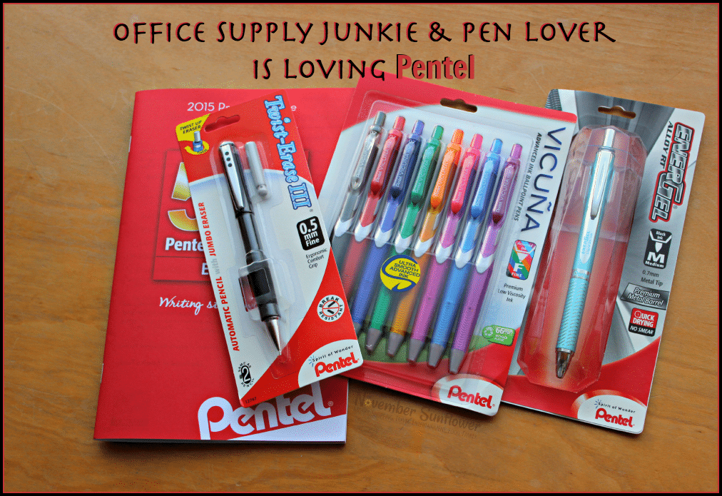 Office supply junkie & pen lover is loving Pentel #shopletreviews #sponsored #pentel #officesupplies