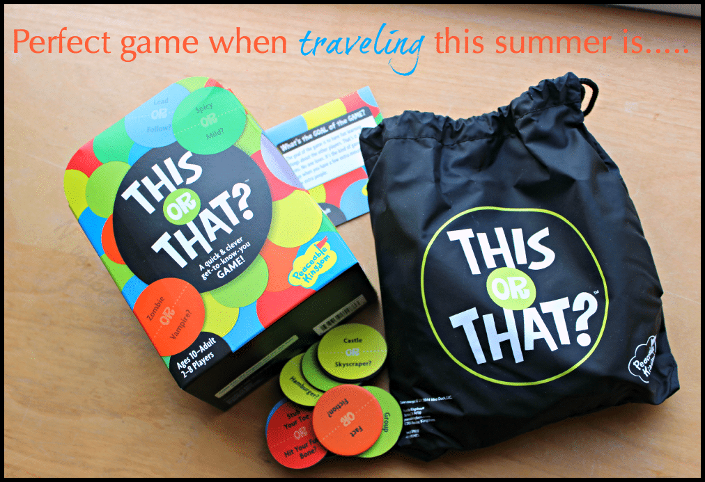 Perfect travel game when traveling this summer is This or That #thisorthat #gamereview #summertravel #cargames #sponsored