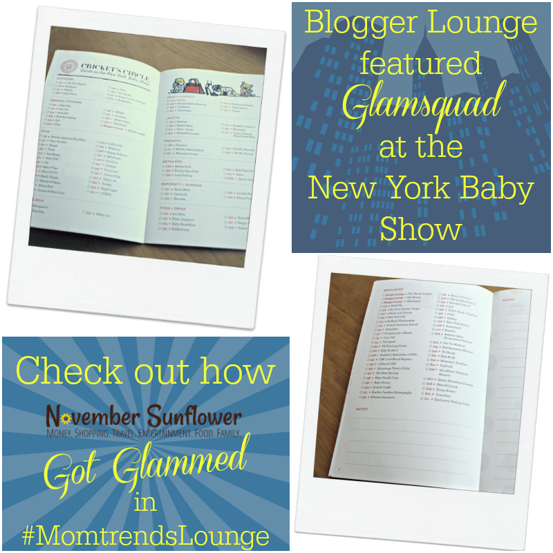 Blogger lounge featured Glamsquad at the New York Baby Show #momtrendslounge #sponsored