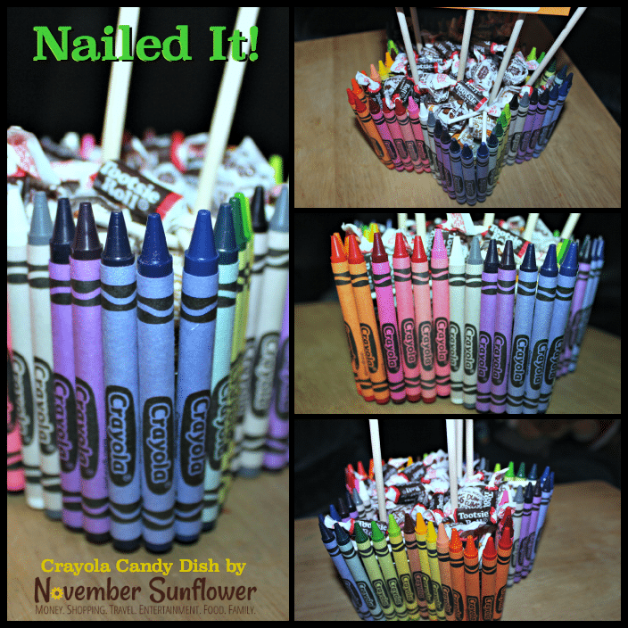 Crayola Candy Dish for the teacher #DIYteachergift #diyproject