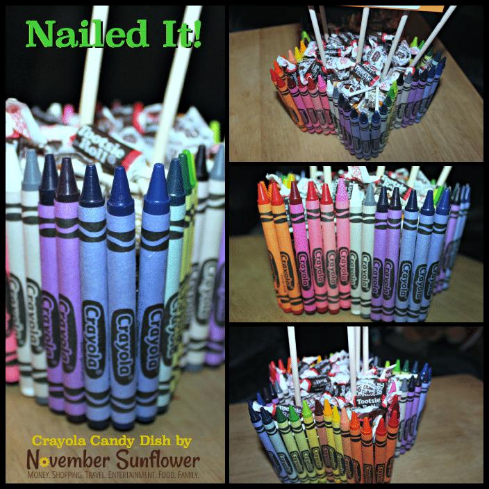 Crayola Candy Dish for the teacher #DIYteachergift #diyproject
