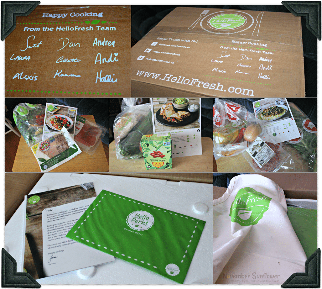 HelloFresh VIP Box of ingredients #HelloFresh #ad