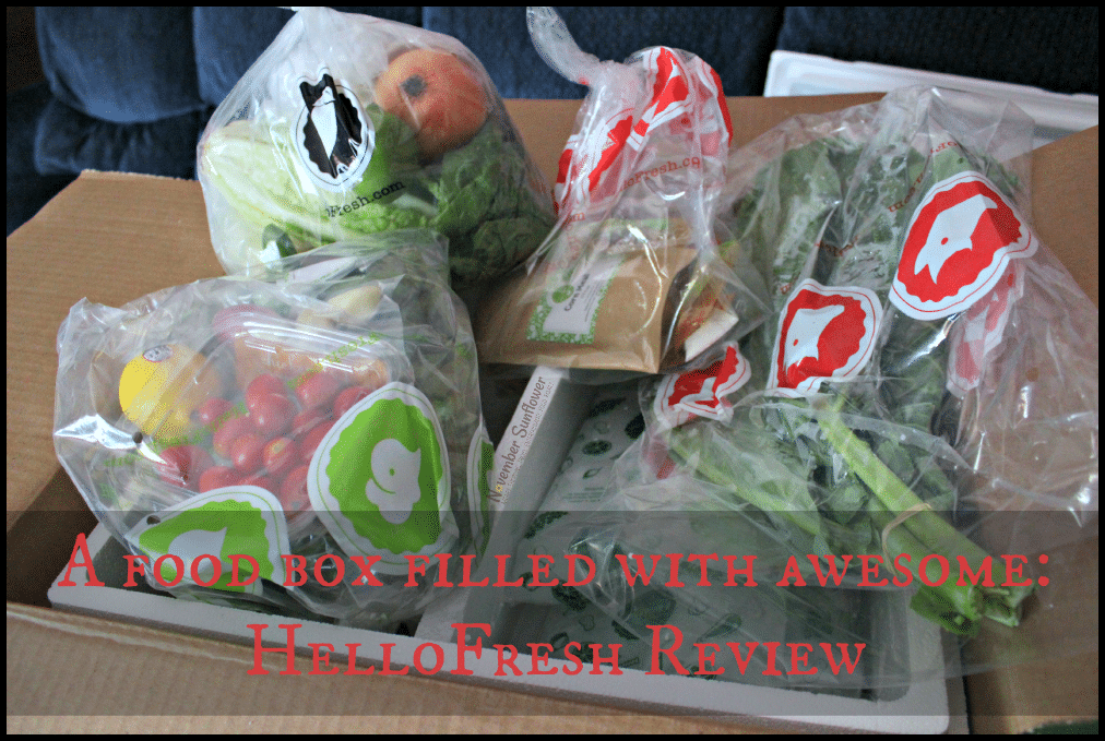 A food box filled with awesome: HelloFresh Review #HelloFresh #foodbox #subscriptionbox #sponsored