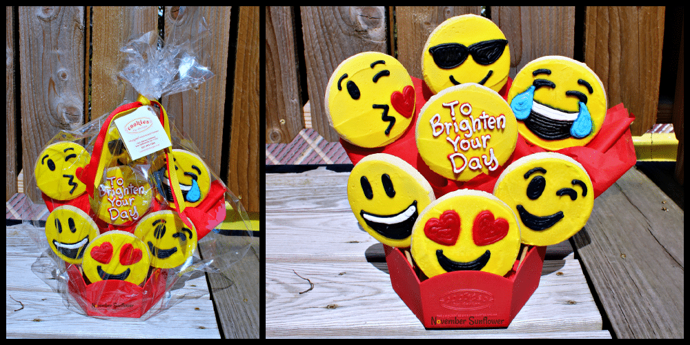 Cookies By Design Emoji Cookie Bouquet #cookiesbydesign #sponsored #foodreview