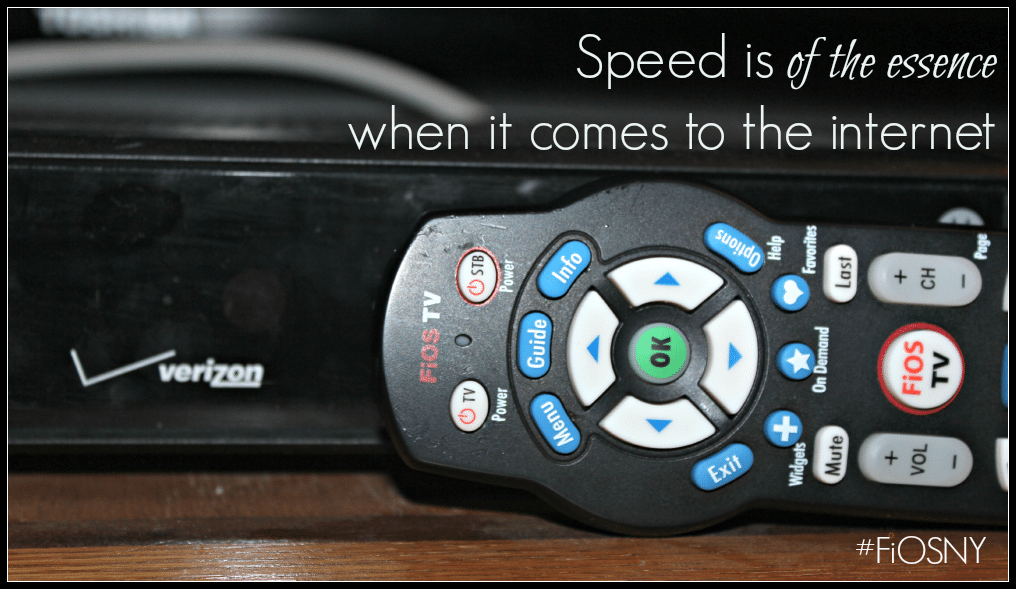 Speed is of the essence when it comes to the internet #FiOSNY #LifeOnFiOS #VZWBuzz [ad]