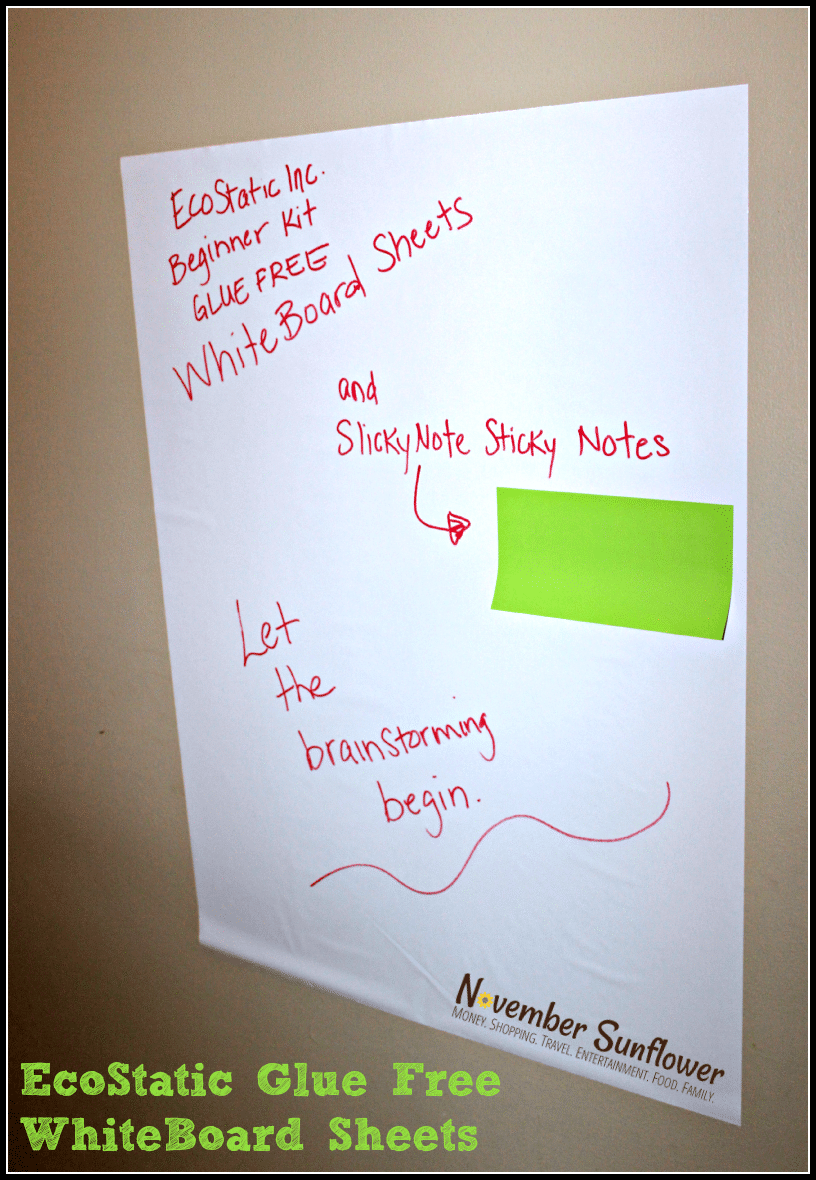 EcoStatic Inc WhiteBoard Sheets #shopletreviews #sponsored #officesupplies