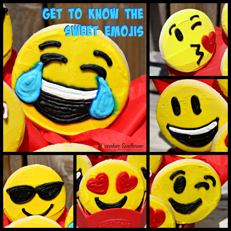 Sweet Emojis Cookies By Design #emojis #cookiebouquet #foodreview #sponsored