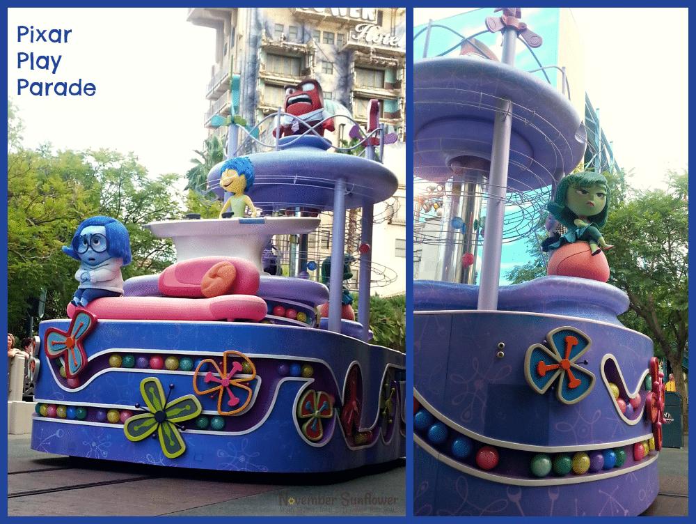 Inside Out Pixar Play Parade at Disney California Adventure