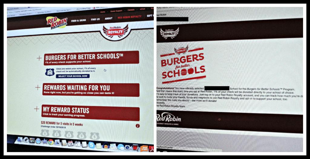Red Robin Royalt program #redrobinroyalty #freeburger #burgersforbetterschools #redrobin