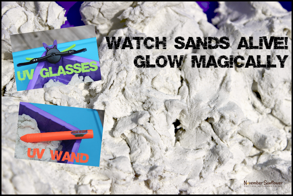 Watch Sands Alive! glow magically #sandsalive #toyreview #kidreview #gotitfree