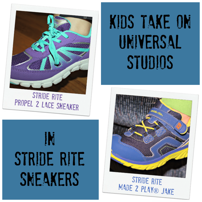 Kids take Universal Studios in Stride Rite Sneakers #striderite #made2play #madetoplay #getitfreetoreview [ad]