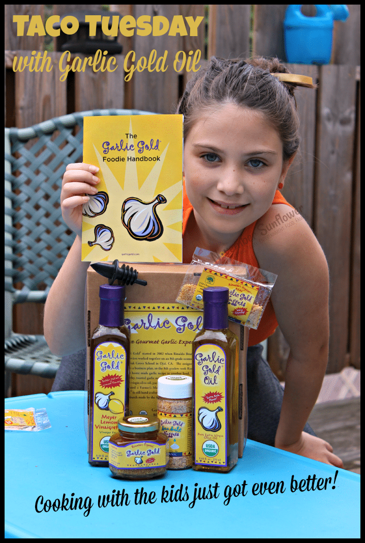 Taco Tuesday with Garlic Gold Oil #cookingwithkids #tacotuesday #garlicgoldoil #garlicgold #gotitfreetoreview #gotitfreeforreview #foodreview