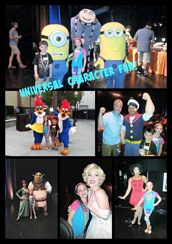 Universal Studios Characters #familyforward #universalmoments #shrek #minions #bettyboop #marilynmonroe #popeye #woodywoodpecker #gru