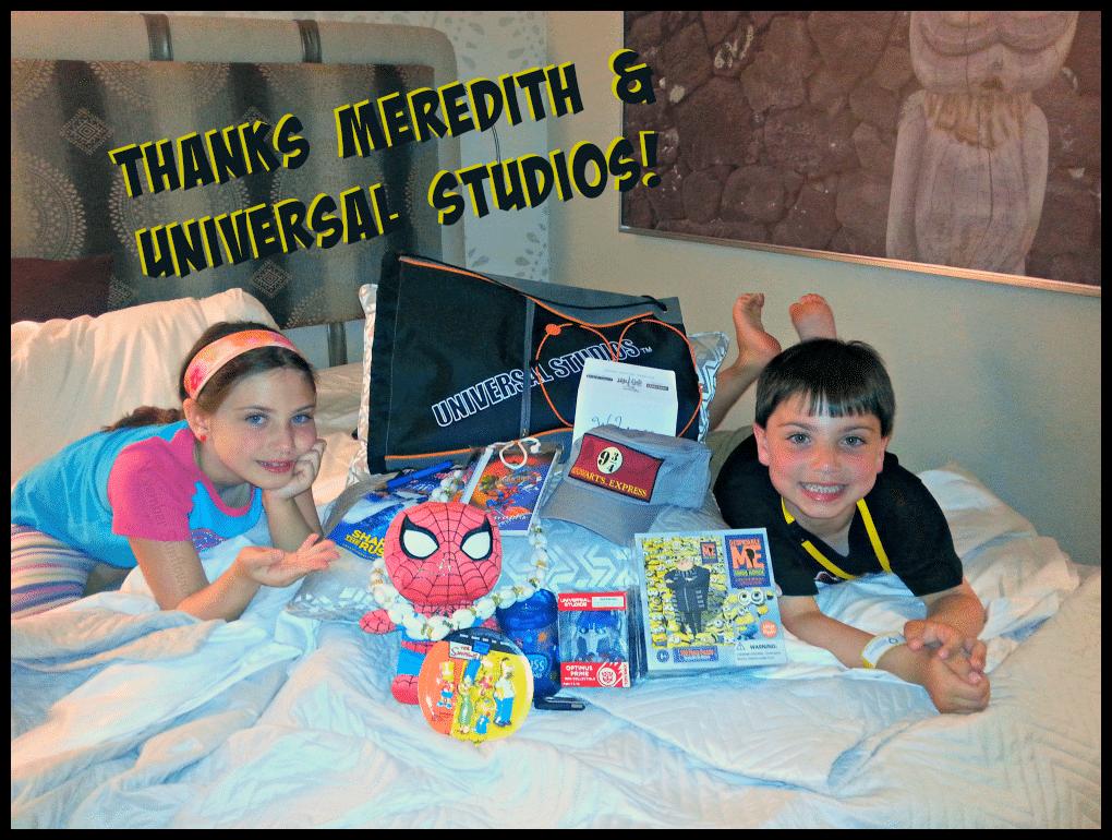 Universal Studios Family Forward gifts #familyforward #universalmoments #loewshotels
