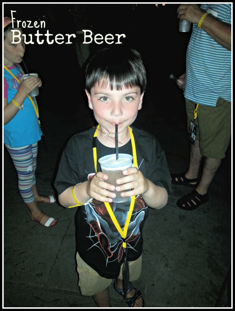 Harry Potter Butter Beer #universalmoments #travelwithkids #familytravel