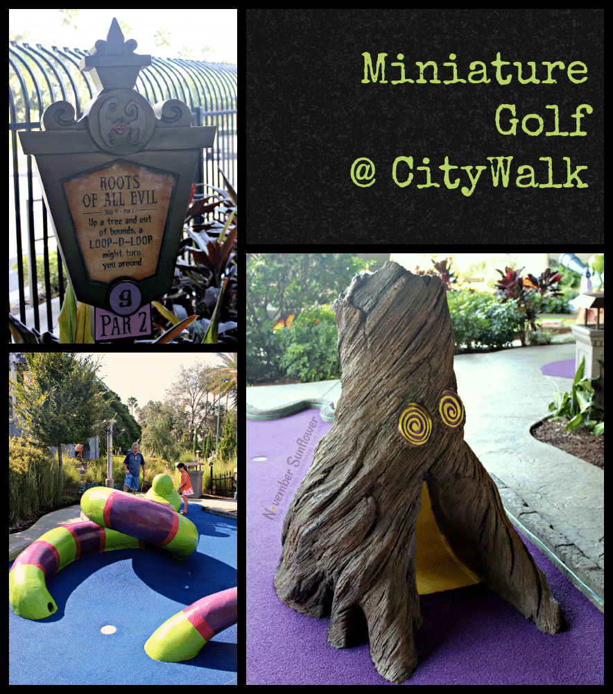 Universal CityWalk Miniature Golf #UniversalMoments #FamilyForward #familyvacation #travelreview