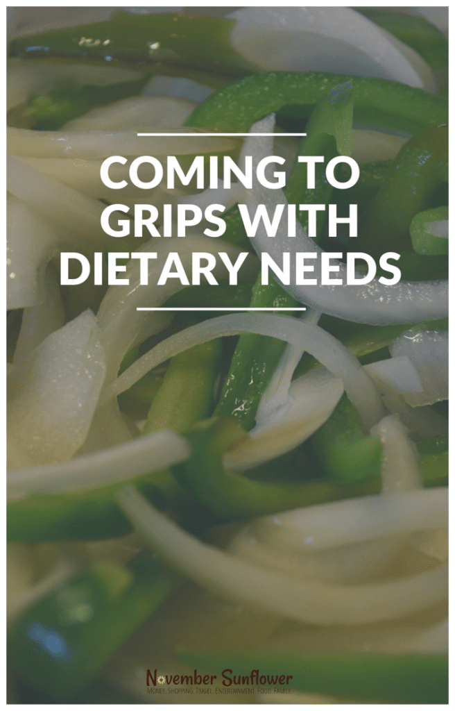 Coming to grips with dietary needs #dietaryneeds #foodallergies #Cookingforacrowd