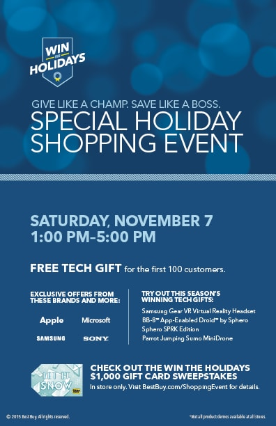 #WinTheHolidays Holiday Store Event at Best Buy #BestBuy #holidays #ad