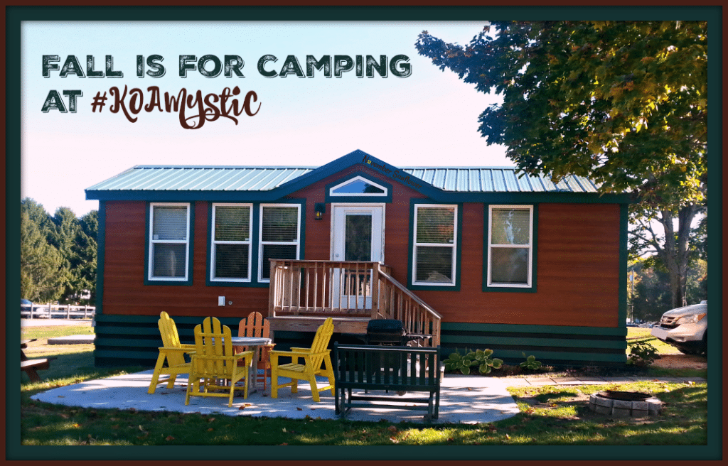 Fall is for camping at Kampgrounds of America in Mystic, CT