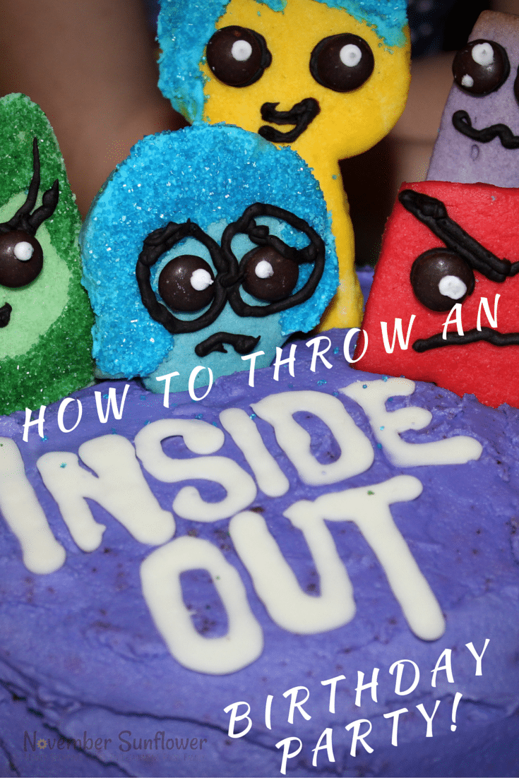 How to throw an Inside Out Birthday Party #InsideOut #NovemberBirthdays #scorpiobirthdays #disneyinsideout #sponsored