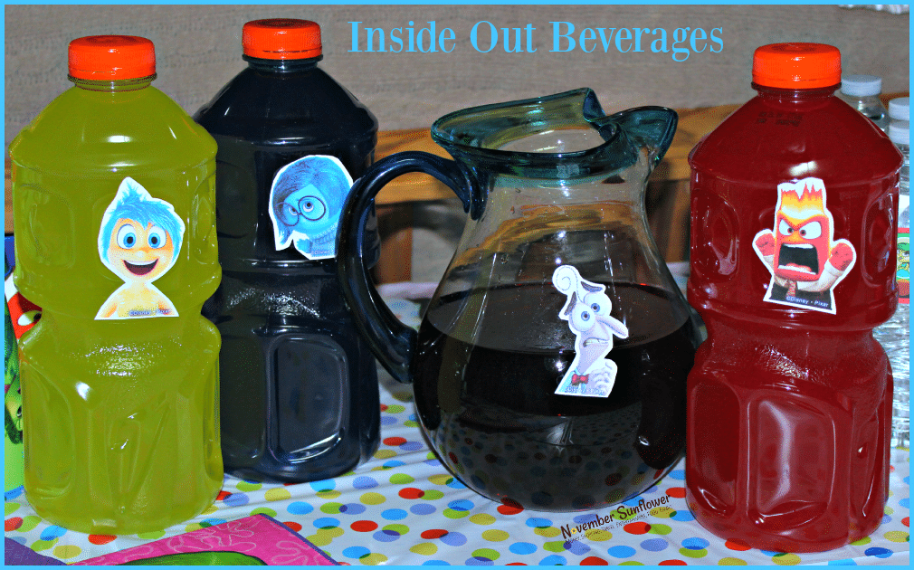 Inside Out Beverages #InsideOut #DisneyInsideOut