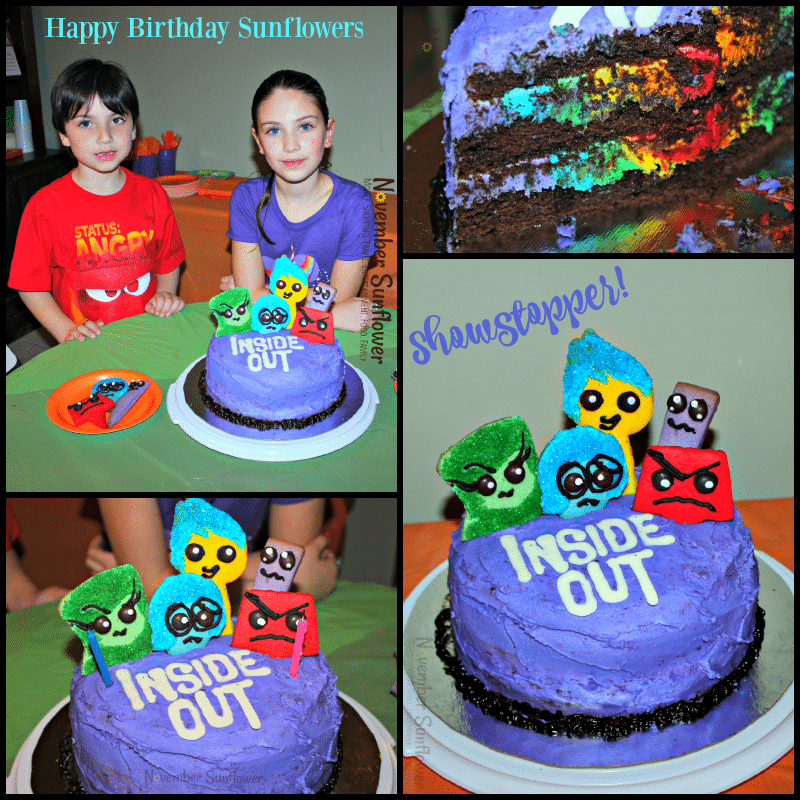 Inside Out Birthday Cake #insideout #insideoutbirthdaycake #birthdaycake #insideout