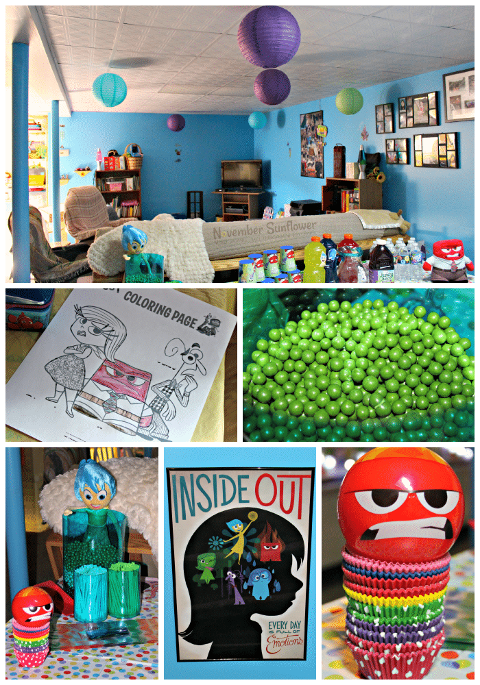Inside Out Party Decorations #InsideOut #DisneyInsideOut