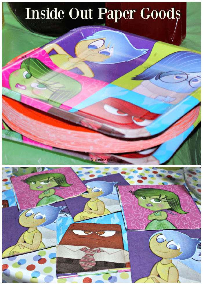 Inside Out Paper Goods #DisneyInsideOut #InsideOut
