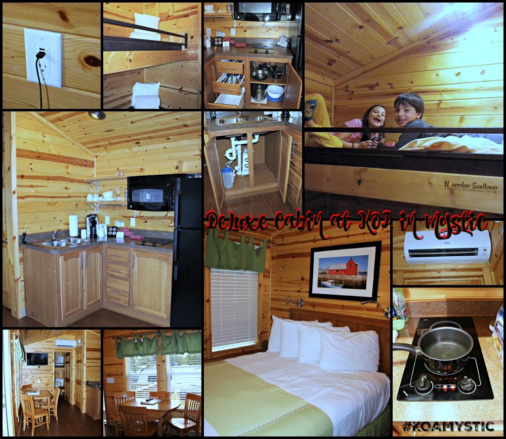 Deluxe Cabin at KOA Mystic #KOAMystic #travelreview #camping