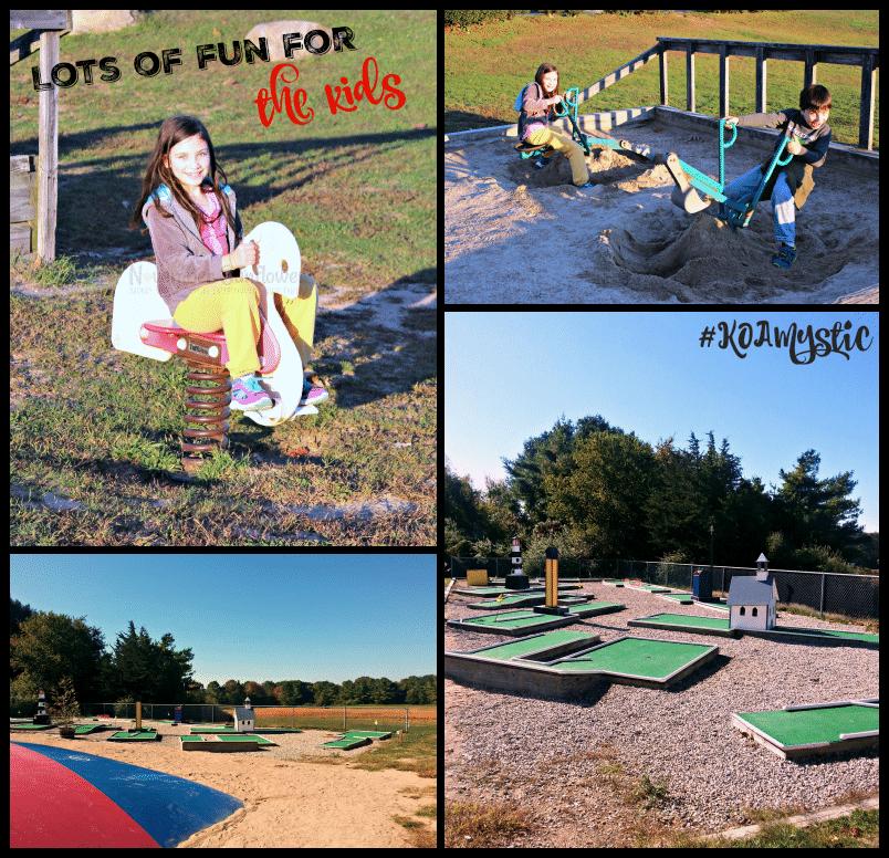 Fun for kids at #KOAMystic #familytravel #camping