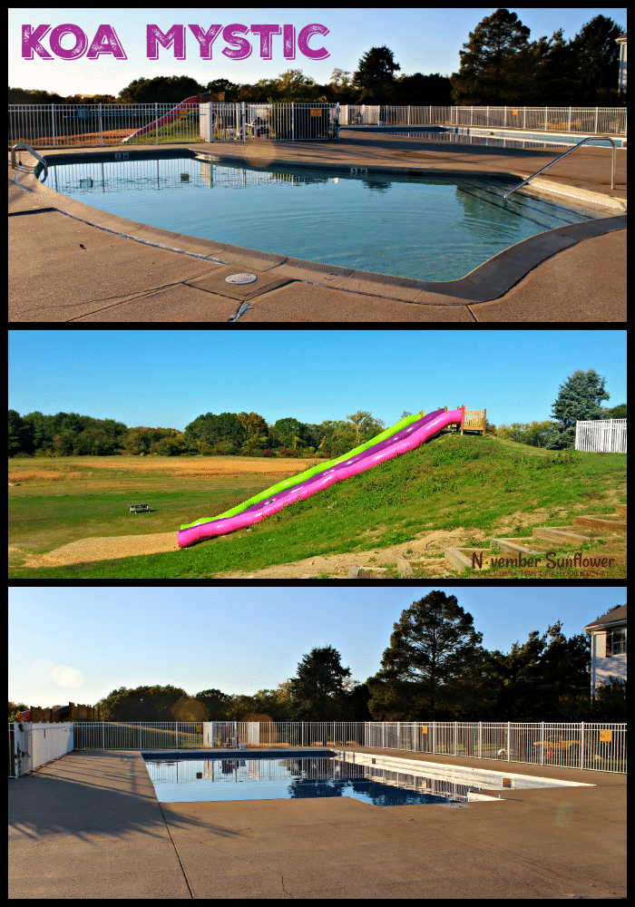 #KOAMystic Pools & Slides #familytravel #camping